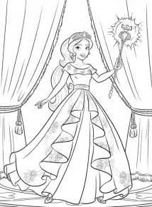 Coloriage Elena D Avalor Princesse Disney