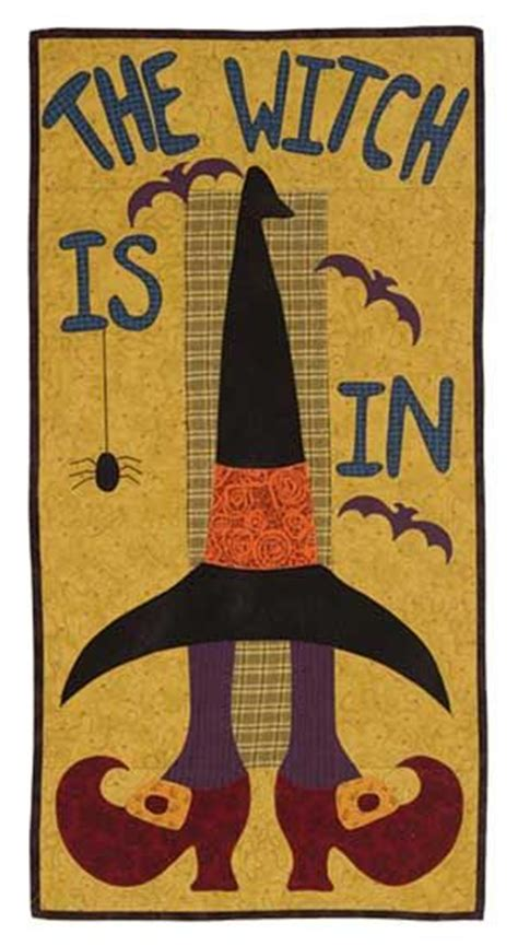 the witch is in wall quilt for sewing room