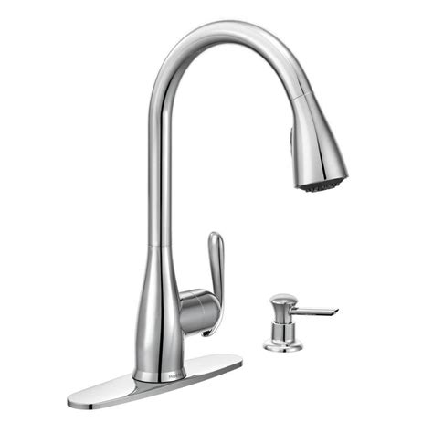 moen haysfield kitchen faucet moen haysfield single handle pull sprayer kitchen faucet with reflex in chrome 87877 the