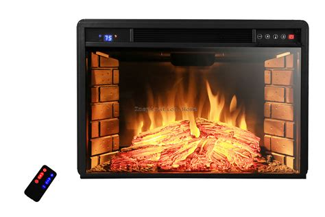 Electric Fireplace Logs 1400w Free Standing Insert Electric Fireplace Firebox Heater Logs Remote Ebay