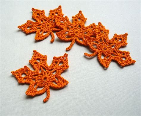leaf applique leaf appliques freeform crochet