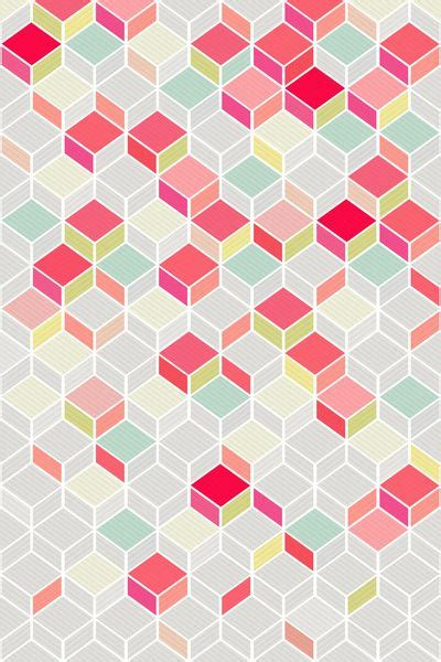geometric pattern of love cube pink by kind of style i don t know why but i love