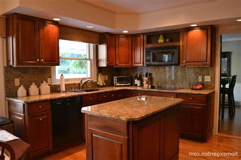 what color floor with cherry cabinets makeovers colors with oak rhartseventurescom kitchen what