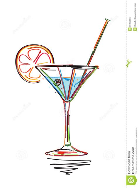 cocktail sketch cocktail sketch royalty free stock image image 31275666