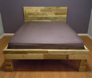 Wood Pallet Bed Frame For Sale Sale Pallet Bed By Sibusfurniture On Etsy