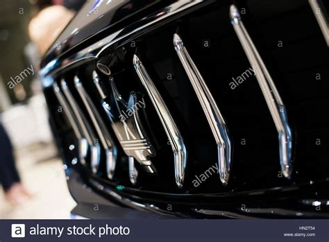 maserati grill emblem maserati levante front grille and badge stock photo