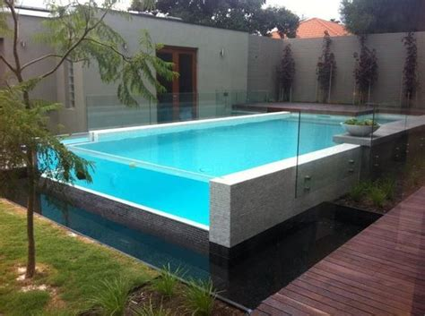 glas pool thick glass pool wall ideas for the house