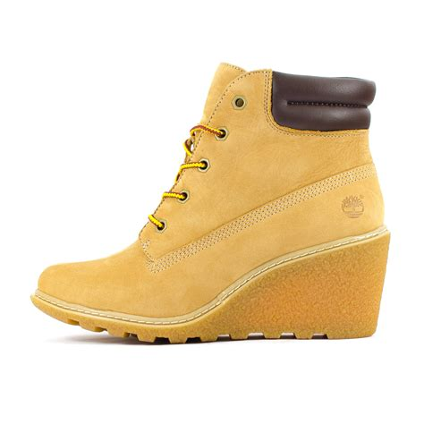 timberland wedge boots womens timberland earthkeepers amston 6 inch wheat brown
