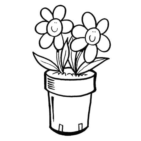 vasi con fiori da colorare disegno di vaso di fiori da colorare per bambini