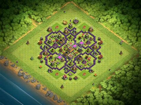 th8 base layout december update best town hall 8 base design for december 2016 clash for