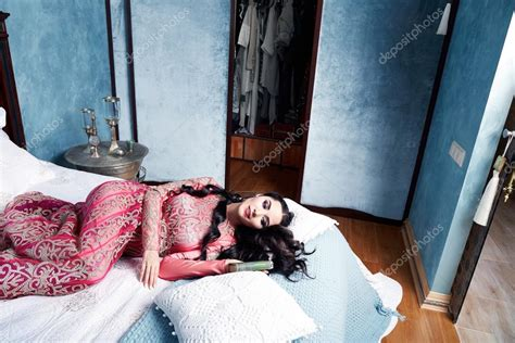 bed in arabic beautiful woman arabic dress silk fashion harem bed