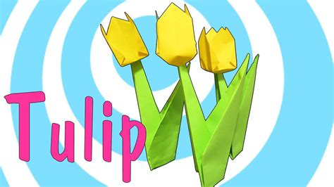 Origami Tulip Stem - how to make an origami tulip flower with stem 171 origami