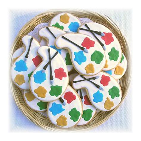 artist palette cookies paint colors