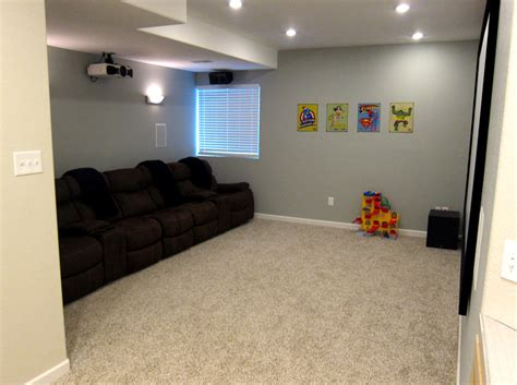 basement homes finish basement home theater before and after pictures