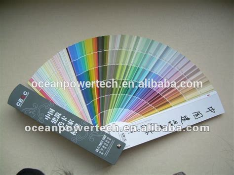wall decorative use color shade card paint chart colour codes with 1026 items china