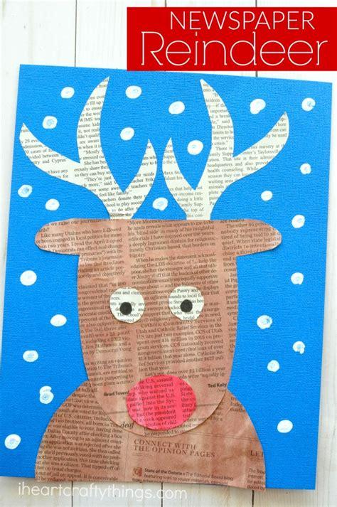 yoddler rudolph crafts newspaper reindeer craft i crafty things