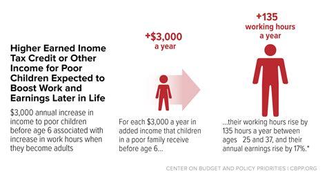 eitc  child tax credit promote work reduce poverty  support childrens development