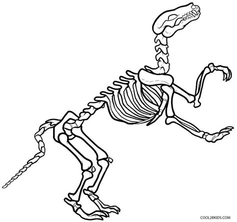 coloring pictures of dinosaur bones free coloring pages