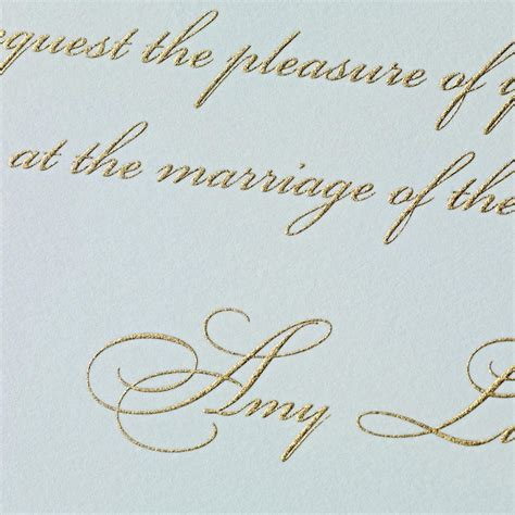 Raised Letter Wedding Invitation Styledevent Engraved And Embossed And Letterpress Oh My