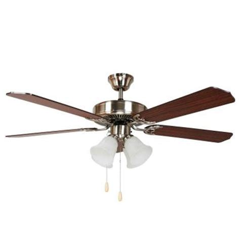 brightest ceiling fan light yosemite home decor westfield 52 in bright brushed nickel