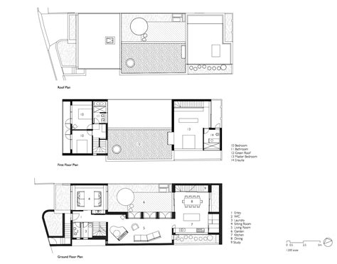blue prints for homes courtyard house aileen architects archdaily
