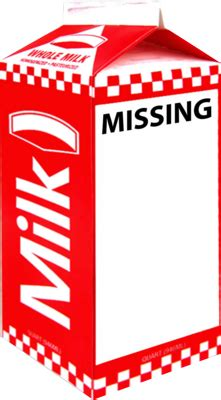 missing person milk template hodgeman s thoughts on the great outdoors about that milk