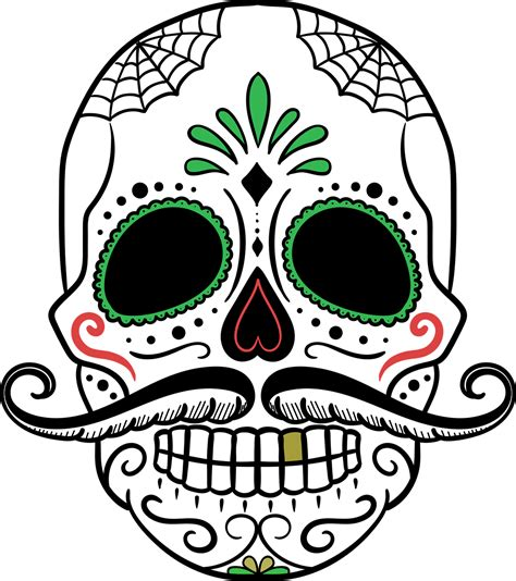 Dia De Los Muertos Sugar Skull Diy Footprint Painting Day Of The Dead Skull Vector