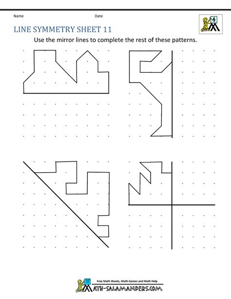 Line Symmetry Worksheets by Symmetry Worksheets