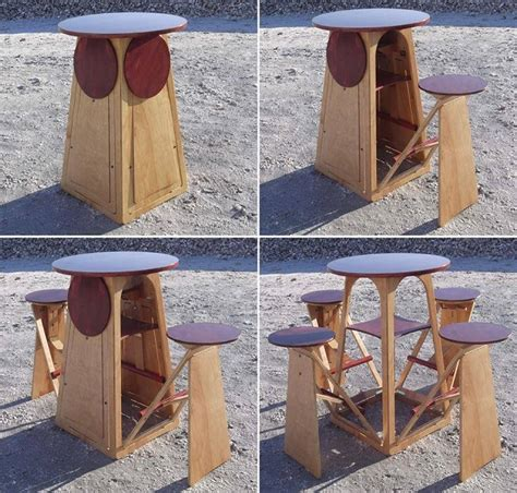 tiny house furniture fold out micro bar home design garden architecture