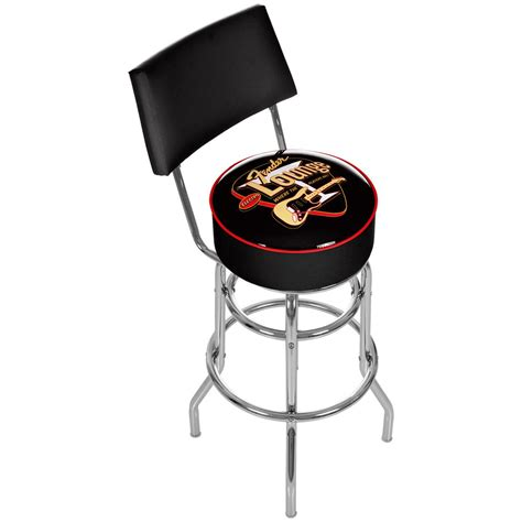 sports bar stools with backs fender 174 padded bar stool with backrest 300063 at