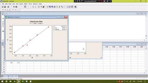 cara uji normalitas menggunakan minitab tutorial membuat grafik regresi dan nilai korelasi dengan