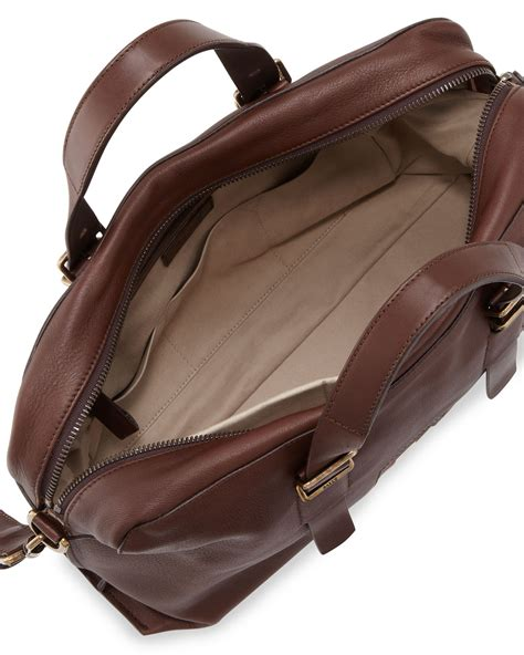Dompet Bally Brown Stripe Original lyst bally leather stripe business bag in brown for