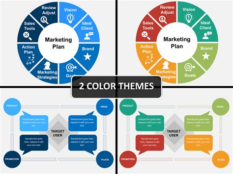 marketing plan powerpoint template sketchbubble
