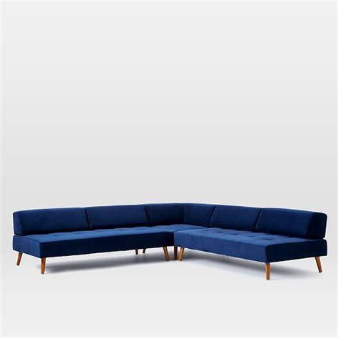 retro tillary sofa retro tillary 174 8 piece sectional west elm