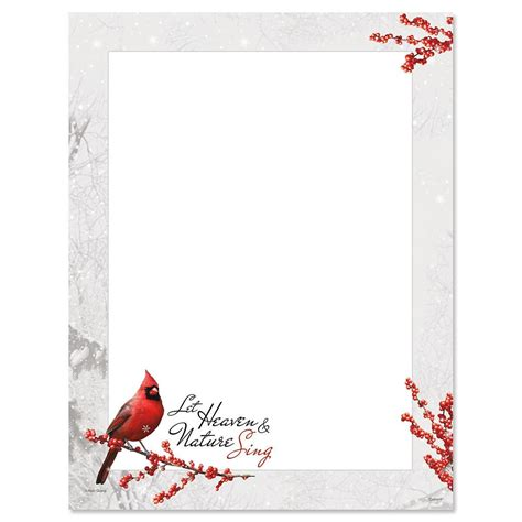 winterberry cardinal christmas letter papers current catalog
