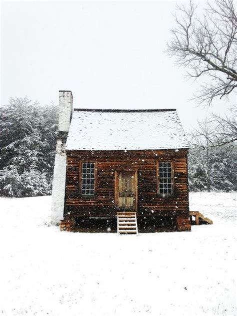 cabin in the snow vintage farm