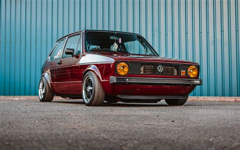 Imagenes De Golf Autos by Descargar Fondos De Pantalla Volkswagen Golf Mk1 Tuning