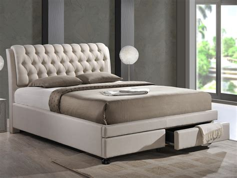 king size upholstered platform bed baxton studio upholstered storage platform bed size king