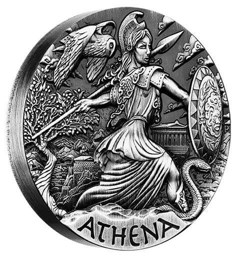 Humm3r Athena Black 2015 athena coin second in goddesses of olympus series