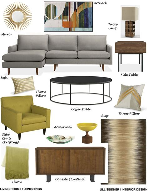 room and board san diego san diego ca residence design project living room furnishings concept board www