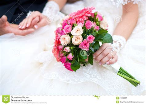 wedding flower images free wedding bouquet with pink flowers stock image image of