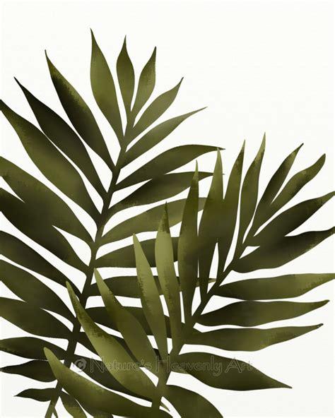 leaf wall decor palm leaf 8 x 10 print tropical decor green wall
