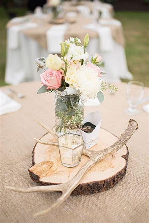 rustic wood wedding centerpieces 50 budget friendly rustic real wedding ideas hative