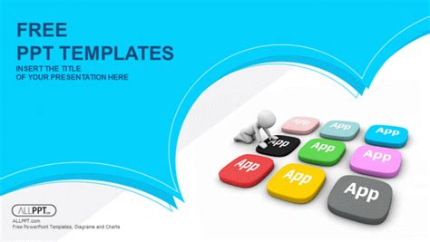 set of square web buttons powerpoint templates