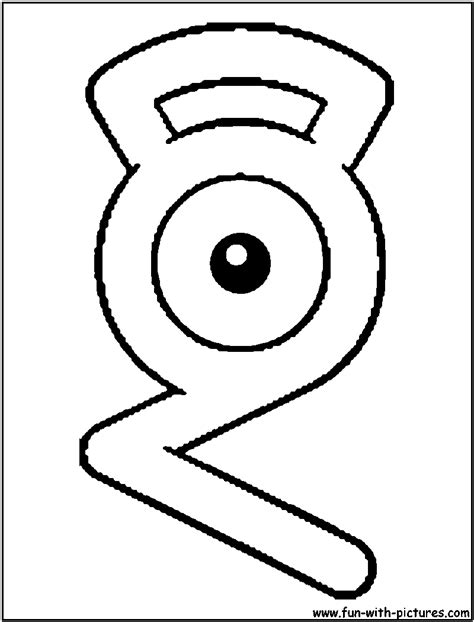unown pokemon coloring pages unown g coloring page