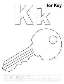 key color free letter k worksheet coloring pages