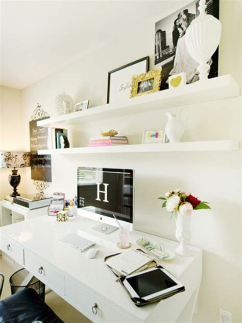 white home office cool white office room design