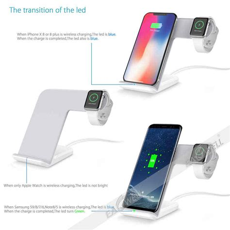 for iphone xs max xr x 8 plus 2in1 qi wireless fast charger charging dock stand ebay