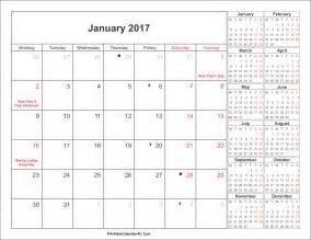 Kalender Med Ukenummer 2018 Kalender 2017 Ukenummer