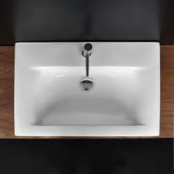 vanity top bathroom sink lacava 9007 caletta porcelain vanity top with an overflow